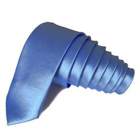 Kravata Slim hedvábná modrá světlá 3