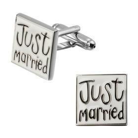 Manžetové knoflíčky novomanželé