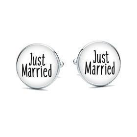 Manžetové knoflíčky Just Married