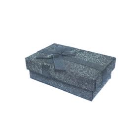 Dárková krabička dárková papírová šedá