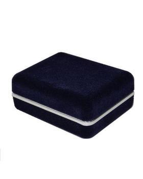 Krabička na manžetové knoflíčky - tmavě modrá semiš