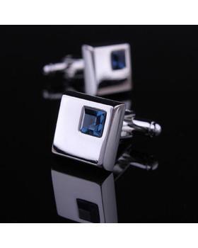 Manžetové knoflíčky - tmavě modrý krystal
