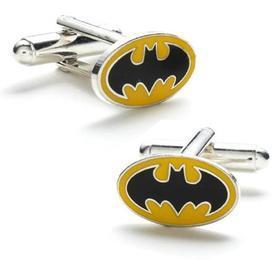 Manžetové knoflíčky Batman žluté