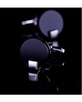 Manžetové knoflíčky černé kulaté