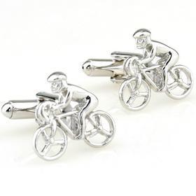 Manžetové knoflíčky cyklista