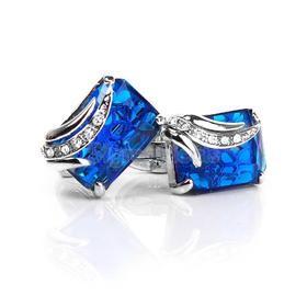 Manžetové knoflíčky modrý klenot
