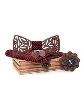 Dřevěné manžetové knoflíčky s motýlkem Pohvizd