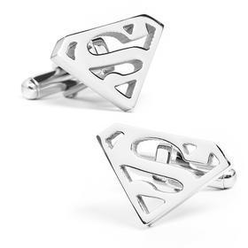 Manžetové knoflíčky Superman stříbrné