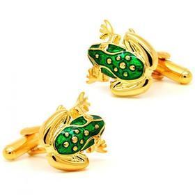 Manžetové knoflíčky žabka zlatá