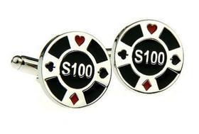 Manžetové knoflíčky pokerový žeton