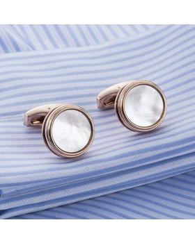 Manžetové knoflíčky perleť natur