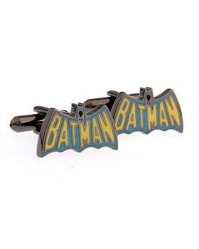 Manžetové knoflíčky Batman barevné logo