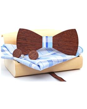 Dřevěné manžetové knoflíčky s motýlkem Simargl