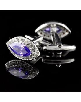 Manžetové knoflíčky velký modrý krystal