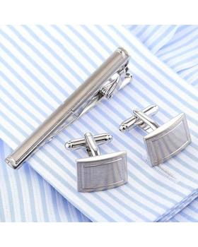 Manžetové knoflíčky se sponou na kravatu traditional