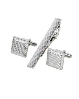 Ocelové manžetové knoflíčky s kravatovou sponou Colorado