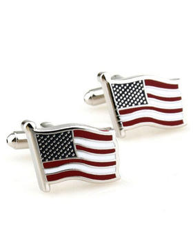 Manžetové knoflíčky vlajka USA