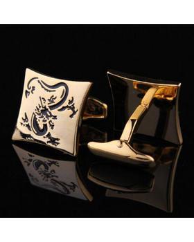 Manžetové knoflíčky drak gold
