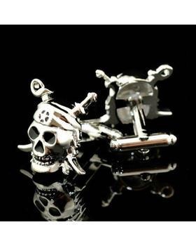 Manžetové knoflíčky - Pirátská lebka