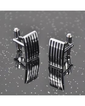 Manžetové knoflíčky ocel - proužky