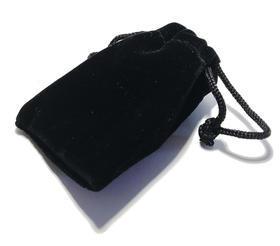 Semišový dárkový pytlík černý