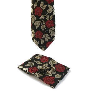 Luxusní set červeno šedé květiny