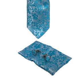 Luxusní set světle modrý vzor květiny