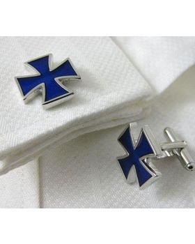 Manžetové knoflíčky modrý kříž