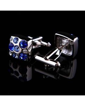 Manžetové knoflíčky s modrými kameny