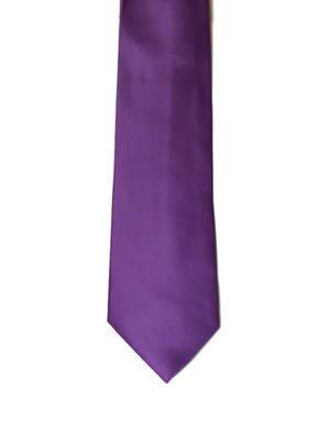 Kravata bez vzoru fialová světlá