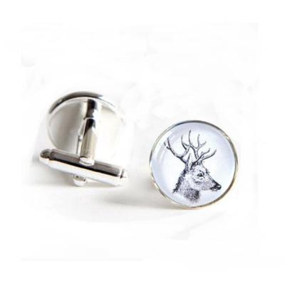 Manžetové knoflíčky bílý jelen