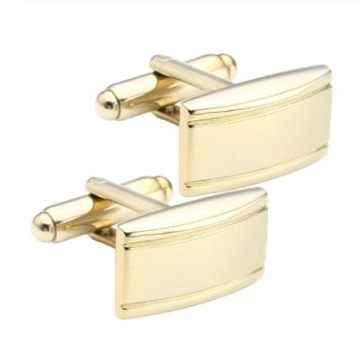 Manžetové knoflíčky matné s pruhy gold