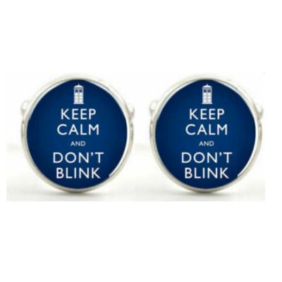 Manžetové knoflíčky Keep calm and don't Blink