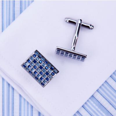 Manžetové knoflíčky modrá mozaika