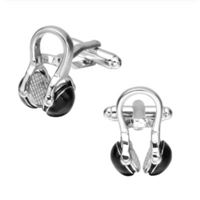 Manžetové knoflíčky černé sluchátka