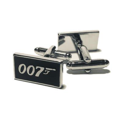Manžetové knoflíčky James Bond agent 007 černé