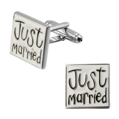Manžetové knoflíčky novomanželé - 1