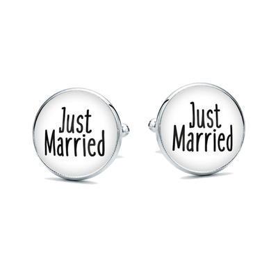 Manžetové knoflíčky Just Married - 1
