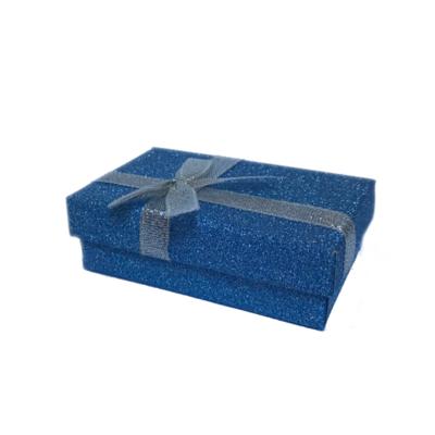 Dárková krabička dárková papírová modrá - 1
