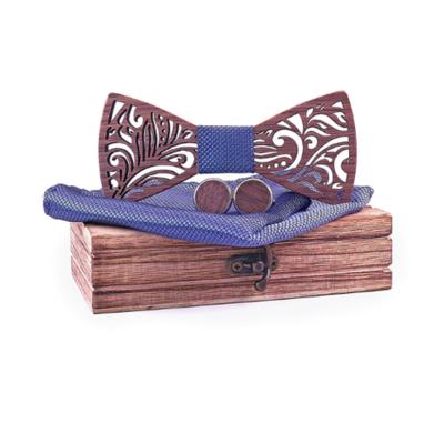 Dřevěné manžetové knoflíčky s motýlkem Johanesburg