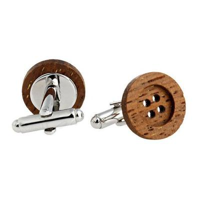 Manžetové knoflíčky dřevěný knoflík