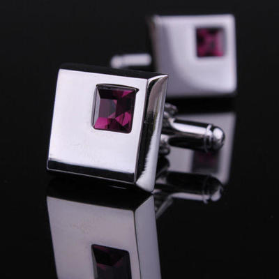 Manžetové knoflíčky - tmavě fialový krystal