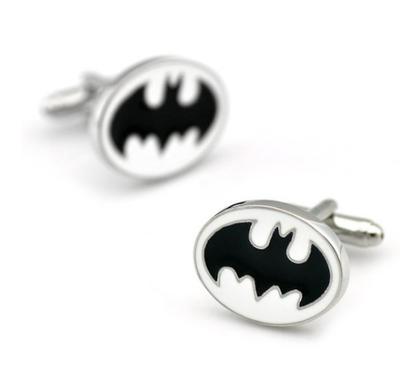 Manžetové knoflíčky Batman bílé - 1