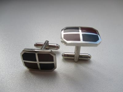 Manžetové knoflíčky dvoubarevné - 1