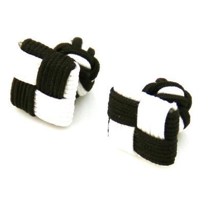 Manžetové knoflíčky elastické černobílé