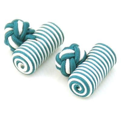 Manžetové knoflíčky elastické zelenobílé