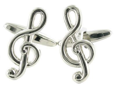 Manžetové knoflíčky houslový klíč - 1