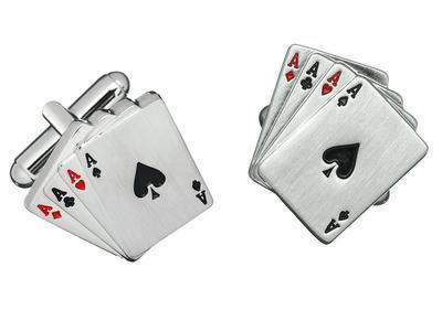 Manžetové knoflíčky karty - 1