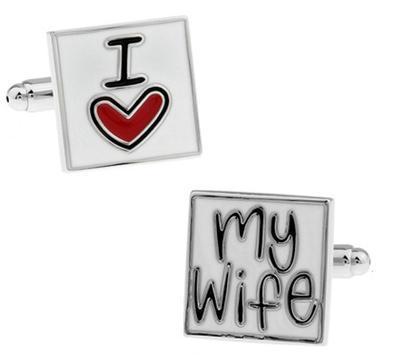 Manžetové knoflíčky miluji svou ženu - 1