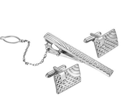 Manžetové knoflíčky se sponou na kravatu luxus - 1